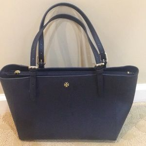 New Tory Burch Blue Tote Bag